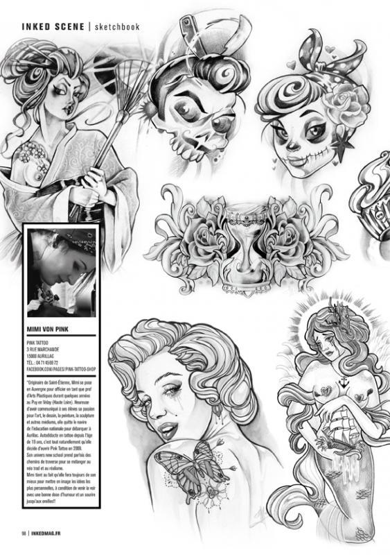 Mimi von pink une personnalit incroyable festival du tatouage de chaudesaigues - Dessin new school ...