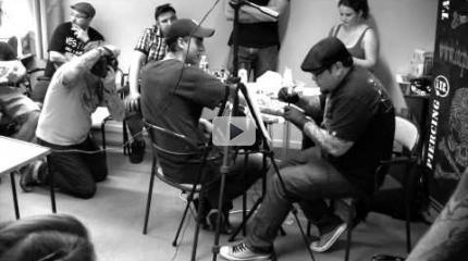 Séminaire de Nikko Hurtado, organisé par Stéphane Chaudesaigues, pour tatouage et Partage.